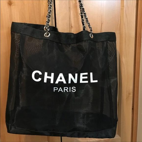 e23da5c31d7 Chanel Paris VIP CC Mesh Tote Black 🔷PRICE FIRM🔷